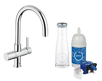 Miscelatore lavello con sistema filtrante dell'acqua Blue