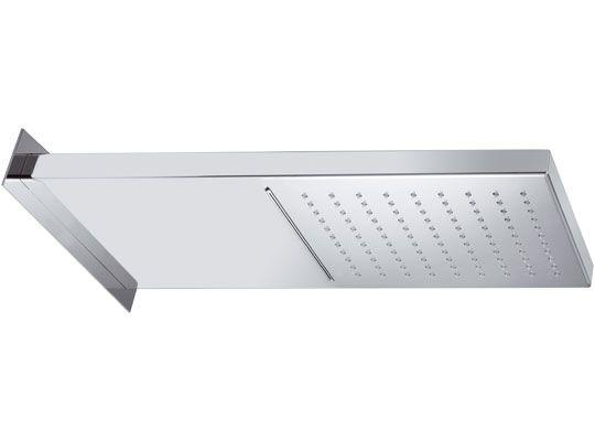 Soffione doccia a parete 50x20x3 cm. in acciaio INOX 2